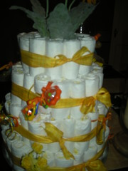 Close up of Diaper Cake