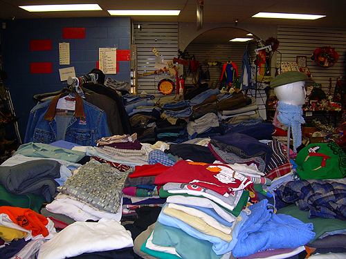 Piles o' clothing