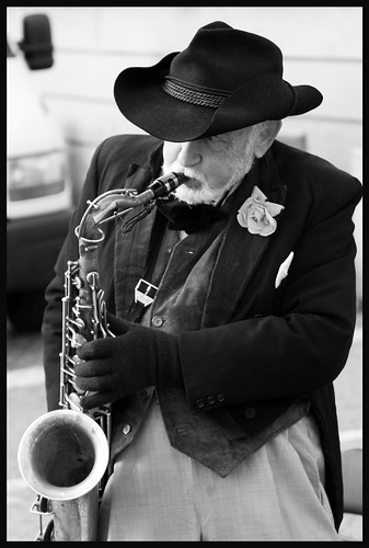 oldman and the sax