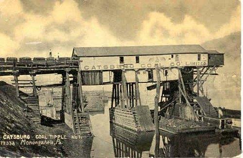 1907 catsburg tipple postcard