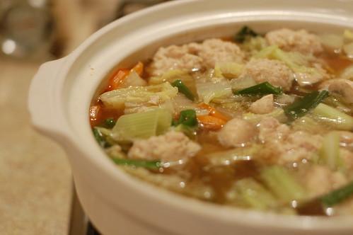 Chicken Meatball Donabe