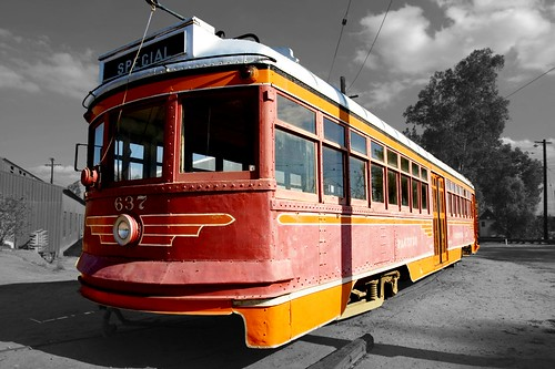 Orange (and Red) Railway Carriage