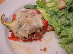 Stuffed Pepper on Plate