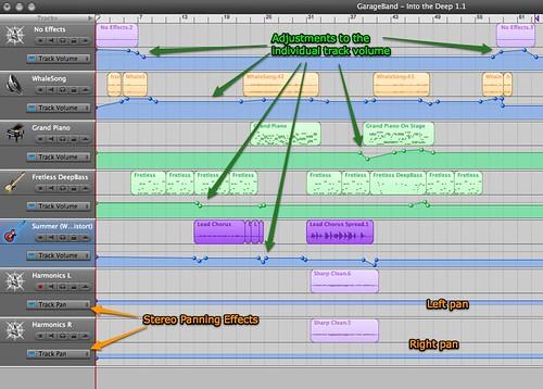 Into the Deep 1.1 GarageBand screenshot