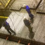 in der Baugrube