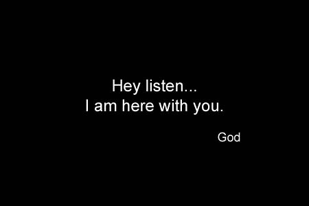 A simple conversation from God (God Series) - I am here