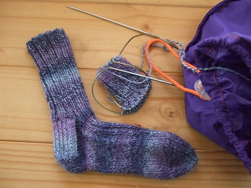 Trekking socks - in progress