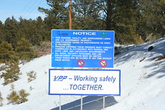 Los Alamos National Laboratory Restrictions Sign