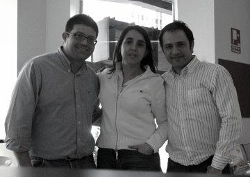 Con Rosa Jiménez Cano y José Luis Perdomo
