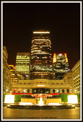 London , Canary Wharf by Dolwolfian