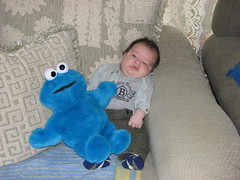 Jack and cookie monster