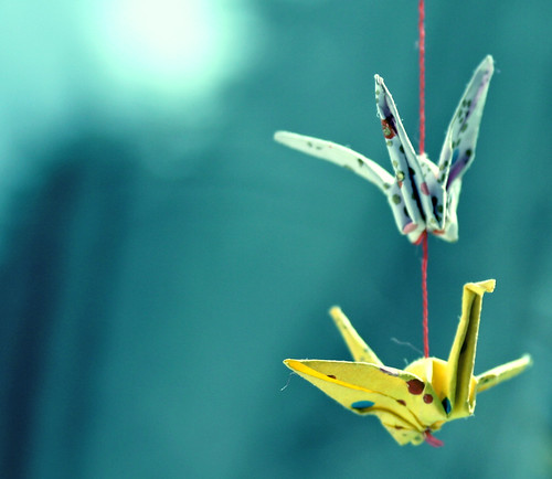 Paper cranes by Shereen M.