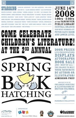 Spring Book Hatching poster