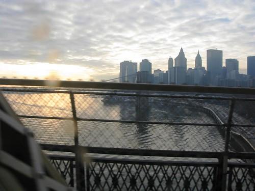 On the bridge, heading home