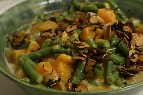 Butternut Squash and Green Bean Curry