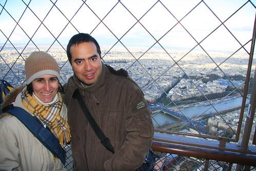 Nosotros en lo alto de la Torre Eiffel