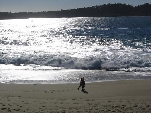 A Christmas walk on the beach