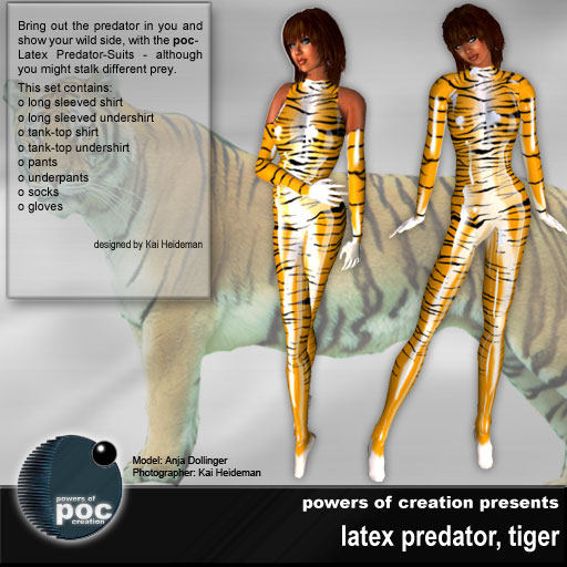 Tiger in latex
