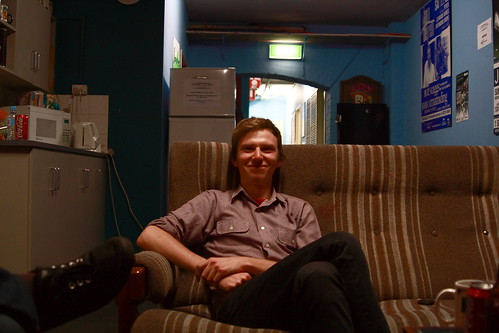 Ben, backstage at Fowler's Live, Adelaide 2007