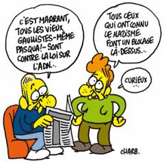 Touche pas à mon ADN par Charb.