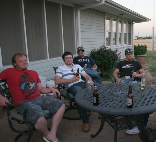 Johan, James, Rocky, Erick at the Annual Campbell Cookout