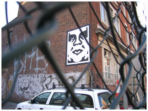 Obey graffiti