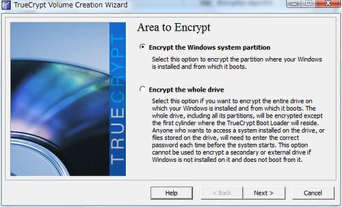 TrueCrypt Whole Drive Encryption