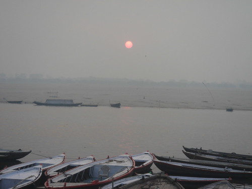 Ganges River1-56日出的恆河天空