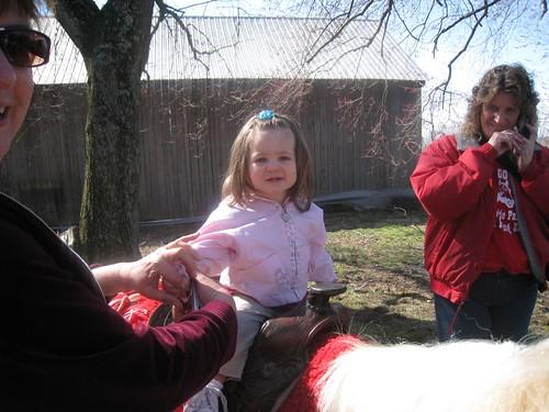 Amelia on a pony