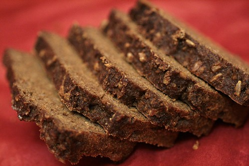 slices of pumpernickel