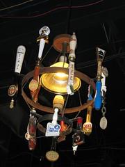 tap handle chandelier at Twain's