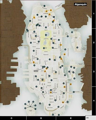 GTA IV Pigeons Map (Algonquin)