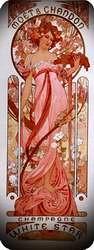 Moetychandon champagne 1899. Alphonse Mucha.