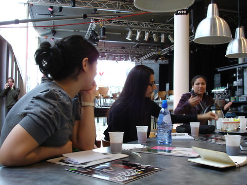 Talking With Interpreter Jamilla, 1