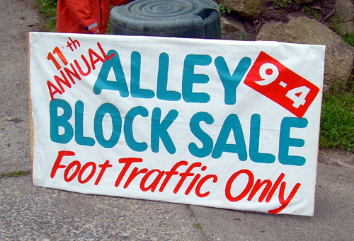 11th Annual Alley Block Sale