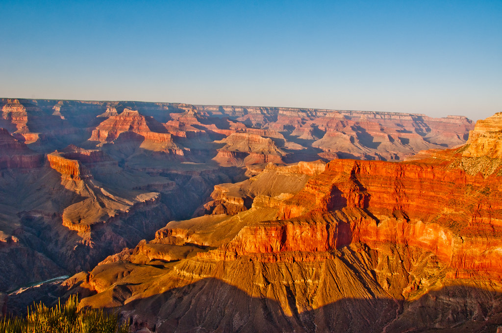 The Grand Canyon towards the west of the National Park