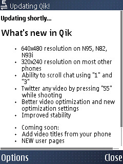 Qik Updated!