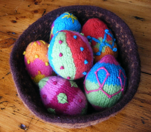 Felted Easter Eggs and Basket