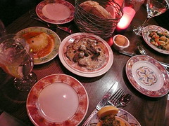 Table with tapas