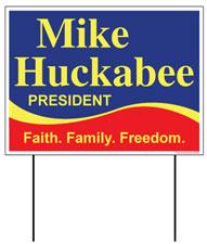 Mike Huckabee Yard Sign