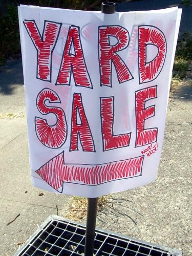 Yard Sale, Woot! Woot!