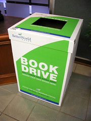 Better World Books book drive box