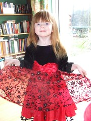 Aine in her new party dress