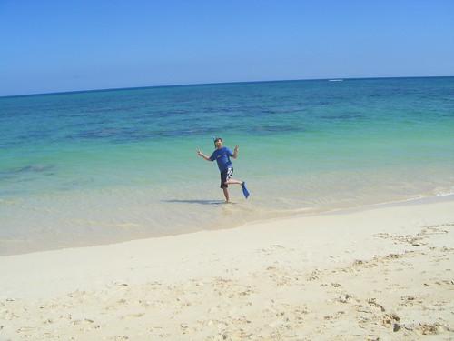 David snorkeling in Oahu