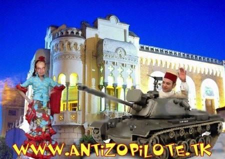 zETApé pasea al rey moromi en carro de combate por la calle real de Ceuta height=