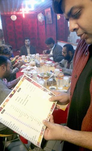 At Afghan Restaurant, Lajpat Nagar