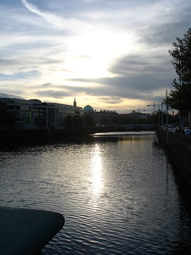 the Sun sets on the 5th over the Liffey