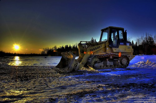 bulldozer at rest