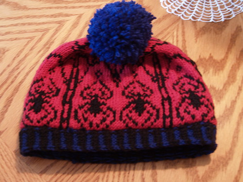 we call him spidey hat finished