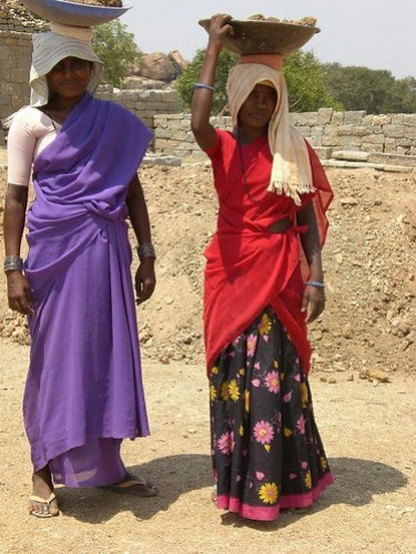 Women Builders, King's Palace, Hampi